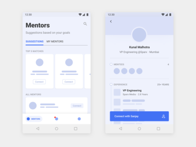 Thread - Android App Design - 3 black and white typography sketch mobile interface illustration flat app material ui android dashboard wireframe design minimal ux ui