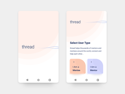 Thread - Android App Design - 4 ux ui typography sketch mobile minimal material ui interface illustration flat design dashboard app android