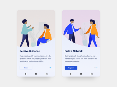 Thread - Android App Design - 5 user experience user interface ux ui typography sketch mobile minimal material ui interface illustration flat design onboarding app android
