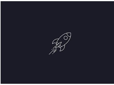 Rocket Logo _Day 1 vector illustration outline dailylogochallenge take off lightyear flying flight rocket rocketship space countdown 321