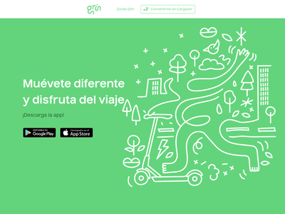 Grin Scooters Landing Page html css html front-end landing web startup