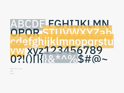 Typography section / IBM Plex css html design system typography