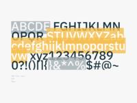 Typography section / IBM Plex