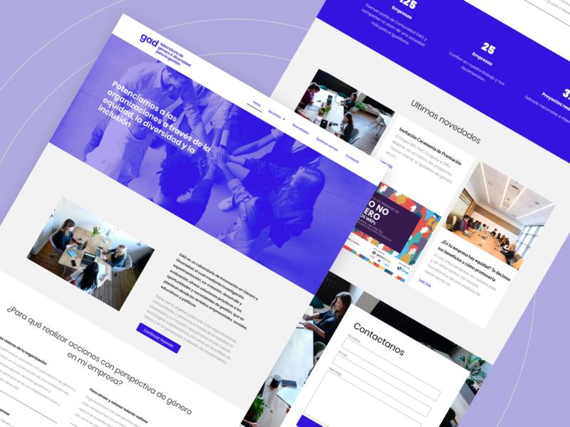 Web design - gad ux design uidesign ux ui corporate design corporate interface website designer designs white blue website design web webdesign