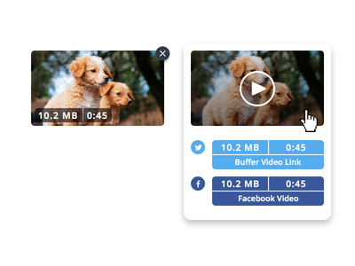 Buffer Video facebook twitter size file time content videoplayer player social specifications video