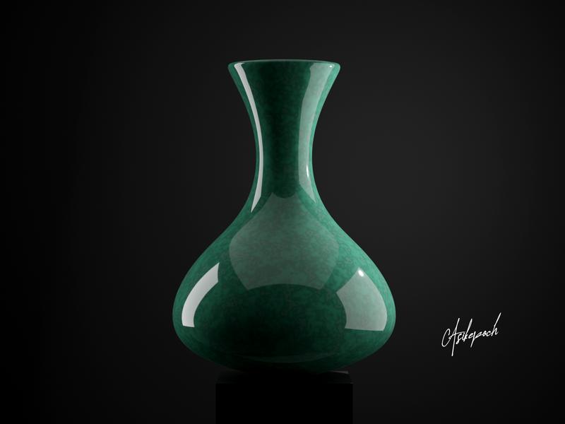 Glassy Ceramic Pot 3d animation product design ceramic 3d art pot design minimal blender3d 3d product