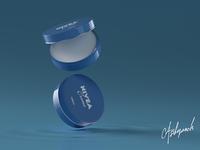 Nviea Cream Photorealistic Render minimal flat design blue animaiton gif photorealistic photorealism brand identity 3dproductdesign product design branding octane cinema4d c4d blender3d blender