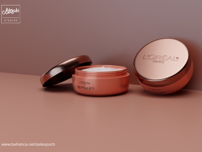 LOREAL PARIS REVITALIFT animation flat branding minimal design photorealistic mockup photorealism 3d product design beauty logo beauty app beauty salon beauty product product animation industrial product product design