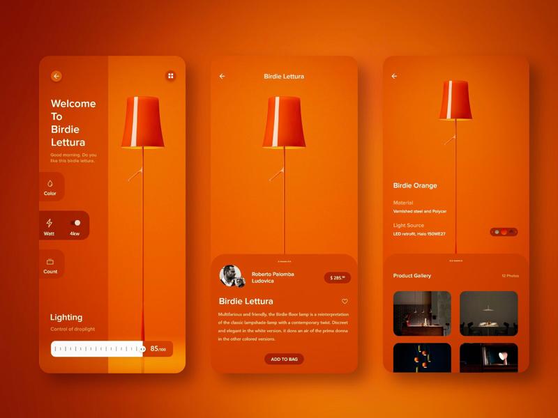 Smart Home App ui design uidesign logo gif website icon web app ux design flat branding minimal colours ui