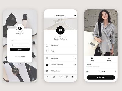 UI for high street fashion brand shopping app minimal app icon design branding ui