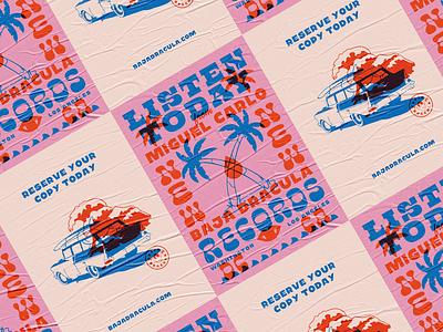 Baja Dracula — Posters record label overprint baja dracula posters surf branding and identity branding design