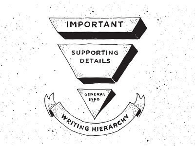 Inverted Pyramid content strategy writing blog illustration inverted pyramid