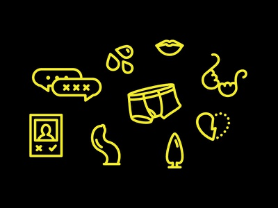 Sexy icons sexting dating sex positive condom underwear bra sex education sexy