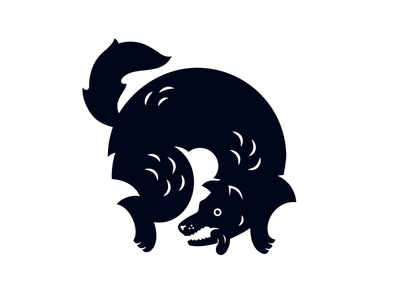 Coyote coyote dog illustration
