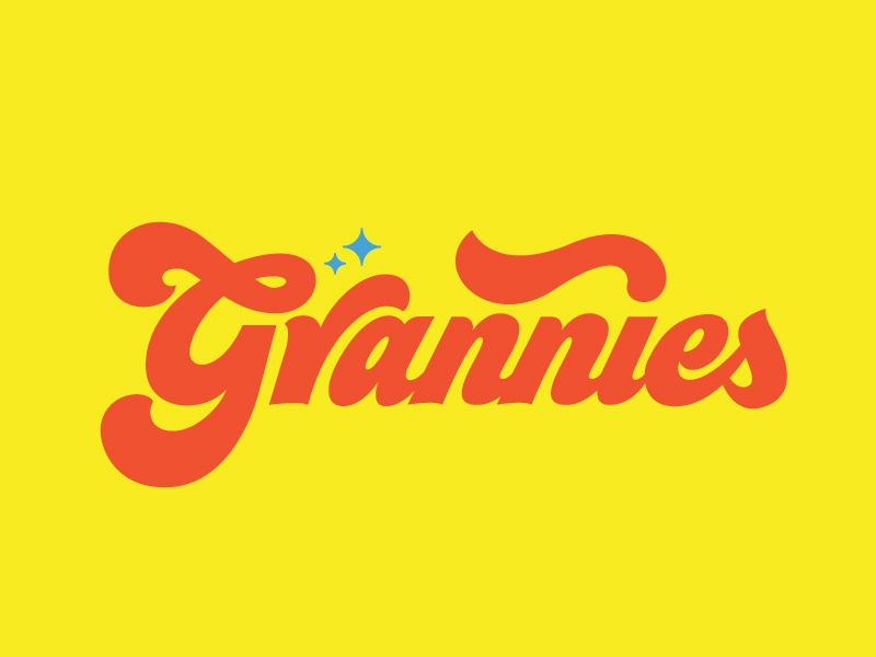 Grannies bitches bad type 70s lettering grannies logo