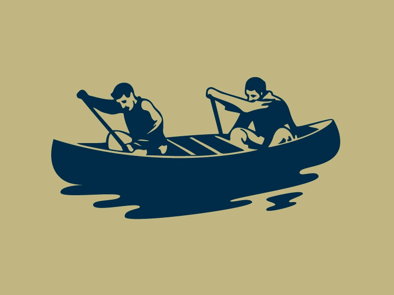 Ken & Bob boating soda ken  bob canoe illustration