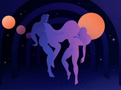 More Than Human space theodore sturgeon more than human illo illustration sci-fi