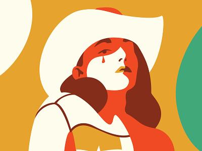 God Counts prairie school honky tonk cowboy hat cowgirl illustration