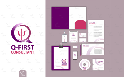 Logo and Stationery Design for Q-First Consultant