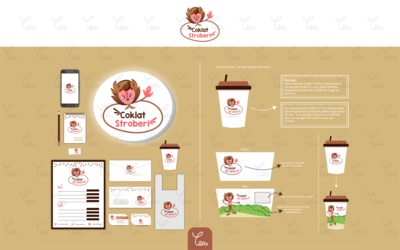 Logo, Packaging, and Stuff Design for Coklat Stroberi