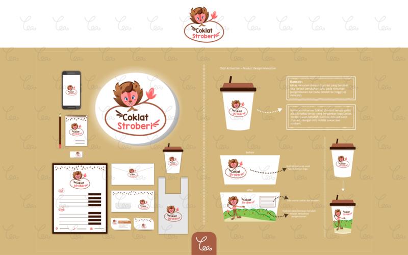 Logo, Packaging, and Stuff Design for Coklat Stroberi mascot osiji packaging mockup menu drink lion illustration graphicdesign vector stationery design branding logo design