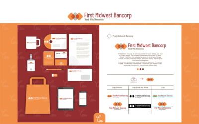 Logo and Stationery Design for First Midwest Bancorp