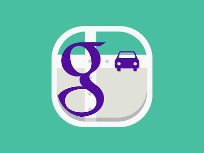 Google car app icon app application icon google car concept drive dribbble