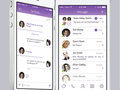 Viber Redesign - Messages