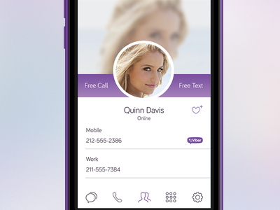 Redesign Viber - Contact application mobile viber contact list design ui ux interface card