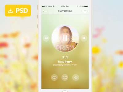 Music Application Freebie music application player interface free psd freebie animation gif mobile