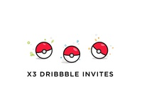 Gotta catch'em all! illustration dribbble invitation invite pokemon pokeball