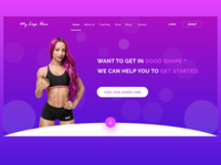 Fitness Landing Page - Header Section
