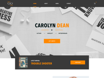 Carolyn Dean - Author Website Branding Concept
