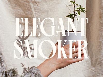 ELEGANT SMOKER - Logo Design simple design minimal minimalistic minimalism minimalist logo logo logo design logodesign logotype