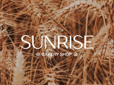 LOGO DESIGN - Bakery Shop Sunrise logodesigner rebrand branding design brand design brand identity branding graphic design minimalism minimalistic logotype logodesign logo design logo
