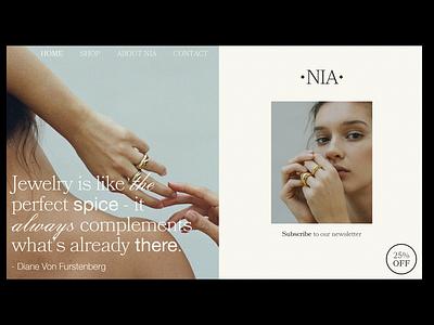 NIA HOMEPAGE website design web design webdesign website branding branding design graphic design simple design minimalism minimalistic