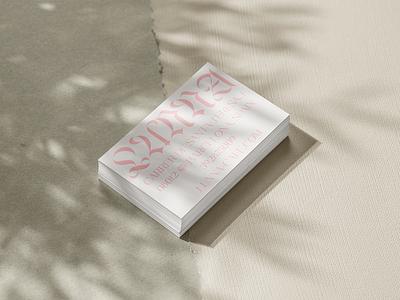 Business Card Design - Cafe Lunna feminine elegant typography logo design branding design branding business card design business card logo minimal minimalist graphic design simple design