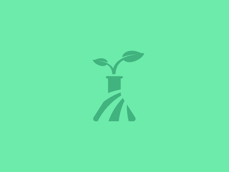 Agricultural Sciences plant leaf green illustration icon lab flask research science agriculture logotype logo