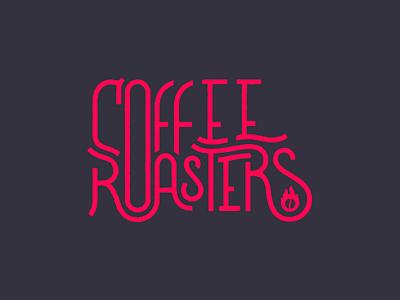 Coffee Roasters typography type fire coffee roasters coffee lettering