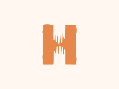 H for Hope hands logo méxico sonora hermosillo fuerza mexico hope h illustration
