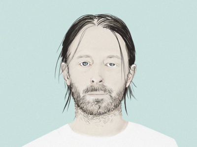 Thom Yorke thom yorke photoshop wacom digital illustration