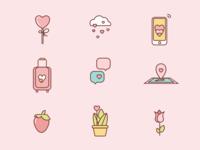 St Valentines icons