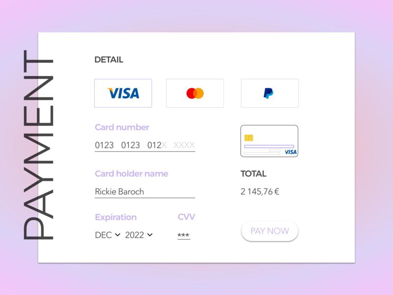 daily UI credit card Checkout creditcard checkout design color ui dailyui 002 dailyui