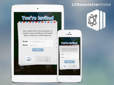 Newsletter Form for Word Search App ios newsletter signup modal window texture ui interface form
