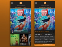 Movie Box Office Chart concept