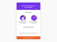 Grofers contacts sync
