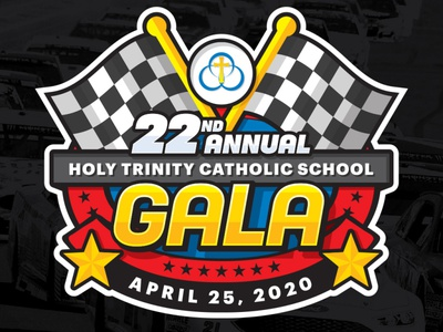 Logo lockup for Holy Trinity Catholic School - Grapevine - NASCA illustration design logo