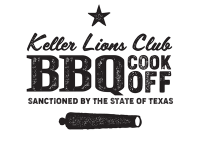 Keller Lions Club - BBQ Cook-Off come and take it texture logo design