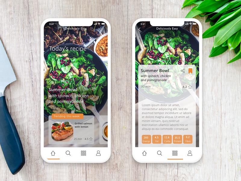 Day 17 - Food app daily 100 challenge ux challenge daily 100 design app sketch presentation device mockup app ui design food food app
