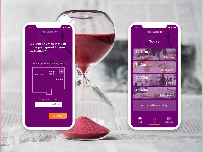 Day 22 - Time manager app daily 100 challenge ux challenge daily 100 sketch presentation device mockup design app ui app design time manager app time management time manager